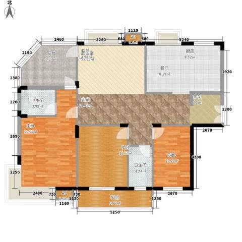 中建桂苑3室0厅2卫0厨135.00㎡户型图