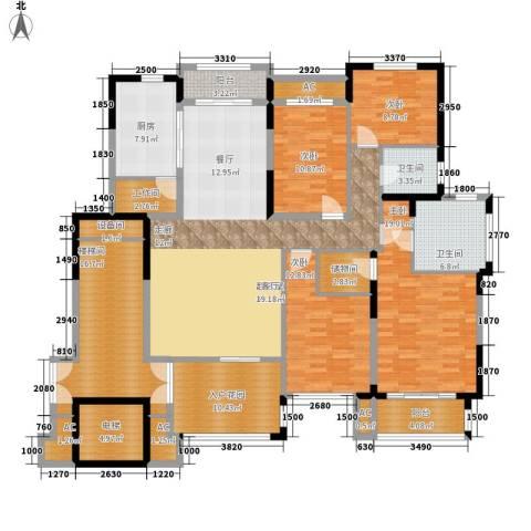 名都凯旋城4室0厅2卫1厨190.19㎡户型图