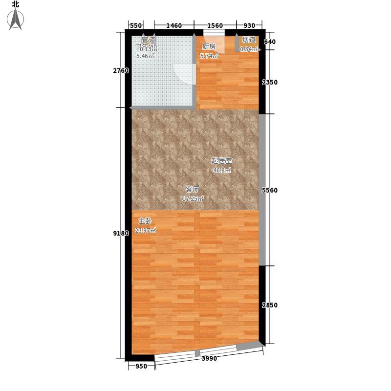 海泰国际公寓58.51㎡高层标准层11户型