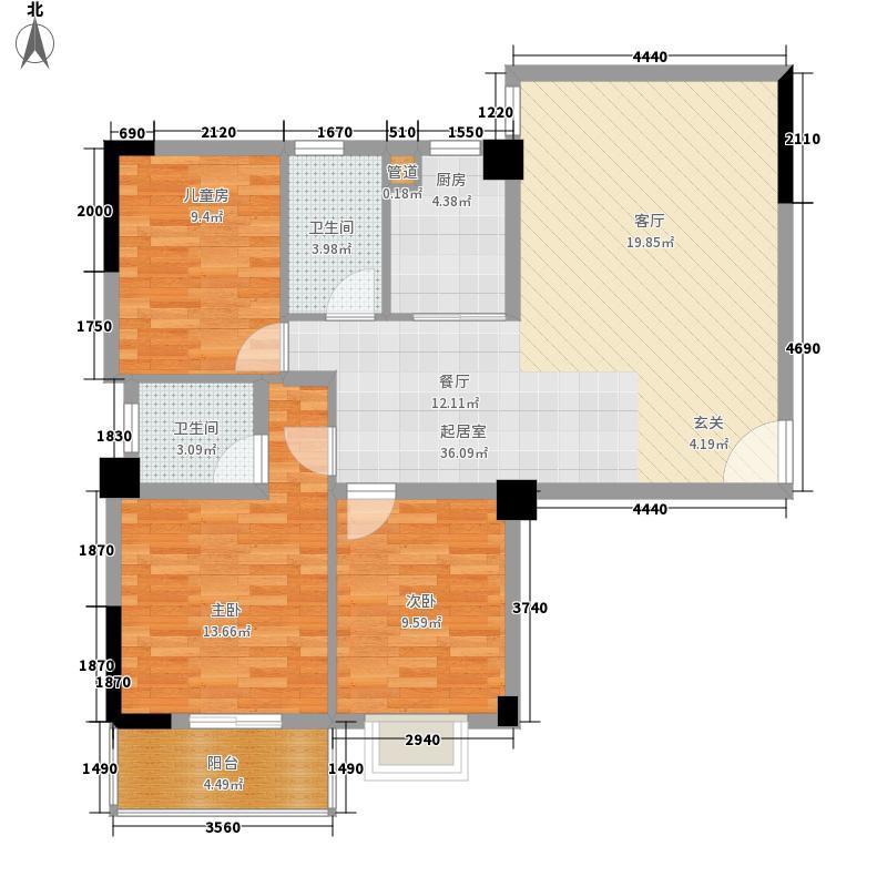 瑞都华庭114.00㎡悠客尊品2面积11400m户型
