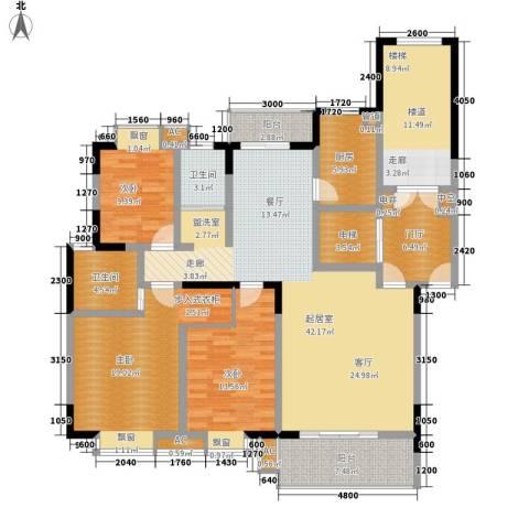 鑫远A派3室0厅2卫1厨137.00㎡户型图