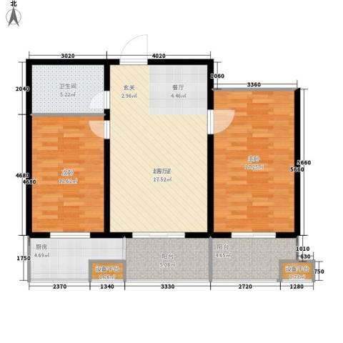 丝路起点2室0厅1卫1厨85.00㎡户型图