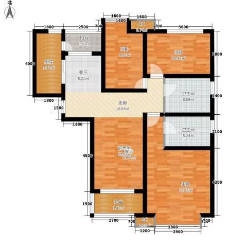 喜蜜湾3室0厅2卫1厨136.00㎡户型图
