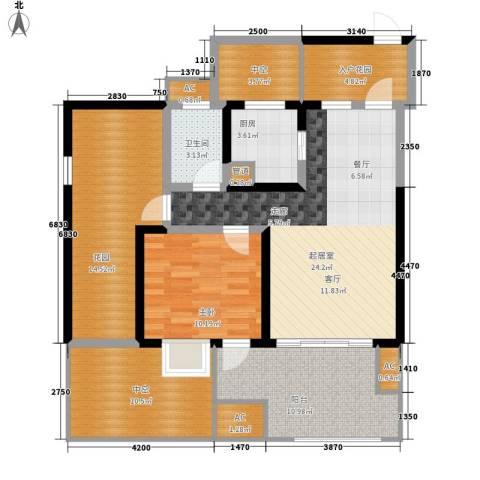 蓝光凯丽香江1室0厅1卫1厨88.60㎡户型图