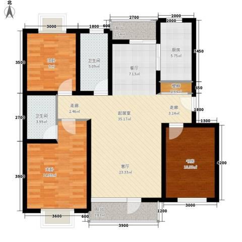 宝翠花都焕景园3室0厅2卫1厨350.00㎡户型图