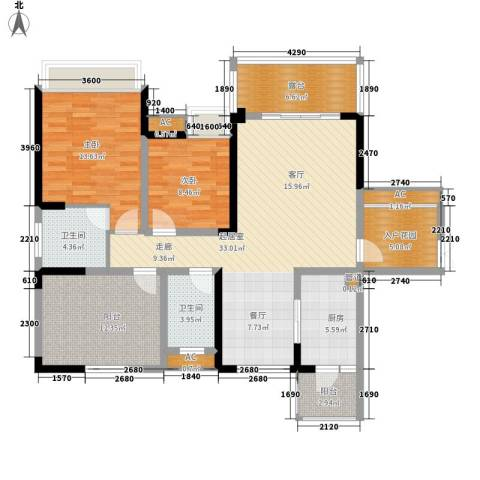 保利心语花园别墅2室0厅2卫1厨114.96㎡户型图