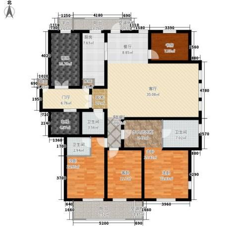 汇景园4室1厅3卫1厨186.00㎡户型图