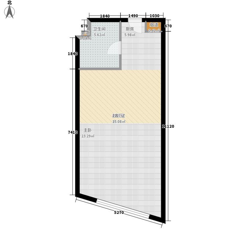 海泰国际公寓54.43㎡高层标准层09户型