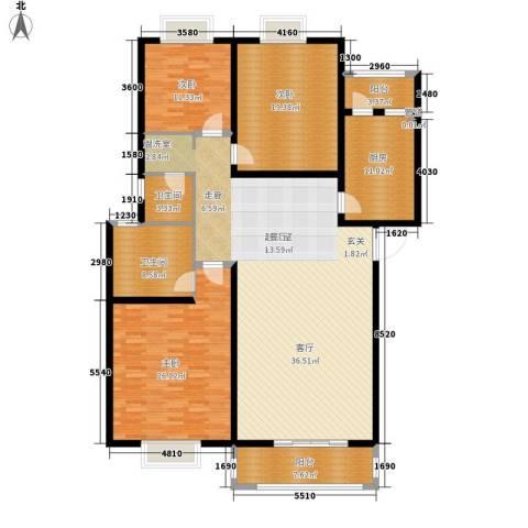 长沙南苑小区3室0厅2卫1厨160.00㎡户型图