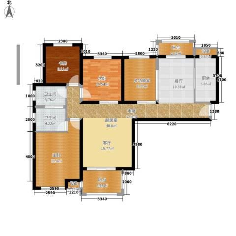 长江丰泽园3室0厅2卫1厨137.00㎡户型图