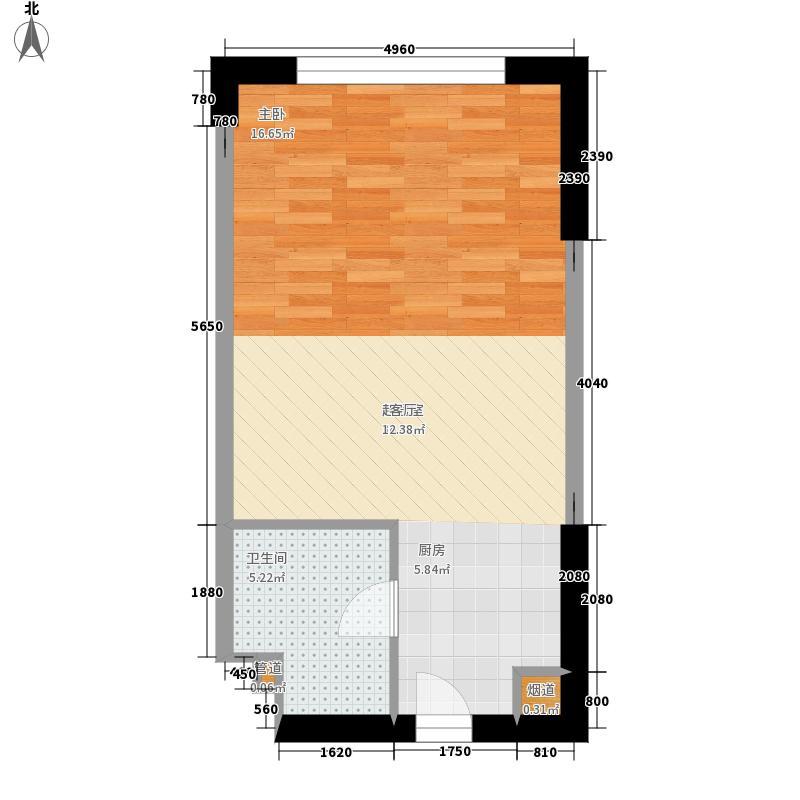 海泰国际公寓46.20㎡高层标准层03户型