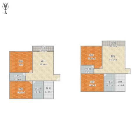 华高苑4室2厅4卫2厨541.00㎡户型图