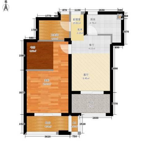 爱庐世纪新苑1室0厅1卫1厨63.00㎡户型图