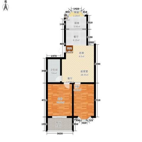 紫金山小区2室0厅1卫1厨84.00㎡户型图