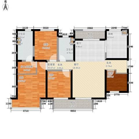 万科金域曲江4室0厅2卫1厨126.00㎡户型图