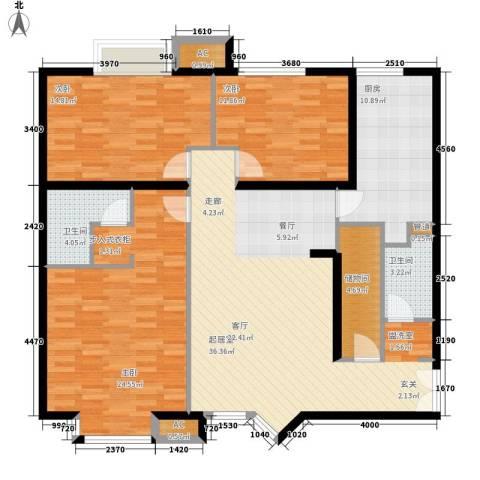 崇立苑3室0厅2卫1厨158.00㎡户型图