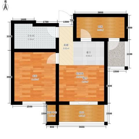 喜蜜湾1室0厅1卫1厨73.00㎡户型图