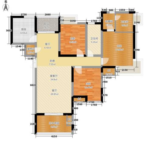 英郡3室1厅2卫1厨130.00㎡户型图