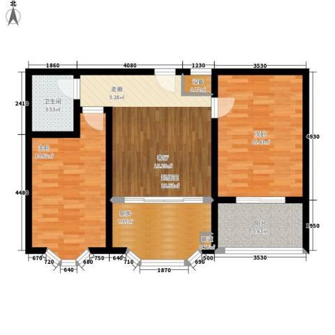 紫金山小区2室0厅1卫1厨75.00㎡户型图