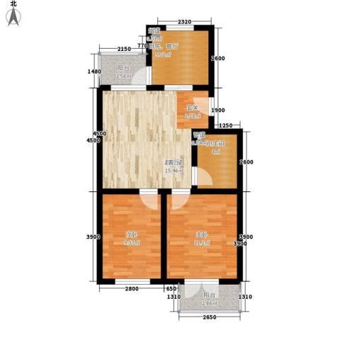 米兰新干线2室0厅1卫0厨68.00㎡户型图