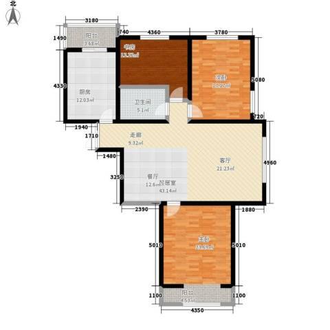 馨月湾3室0厅1卫1厨127.00㎡户型图