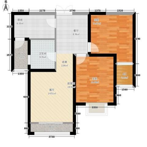 馨月湾2室0厅1卫1厨88.00㎡户型图