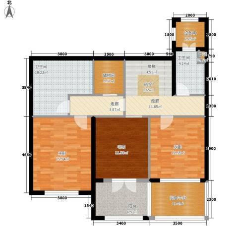 陈家墩小区3室0厅2卫0厨129.00㎡户型图