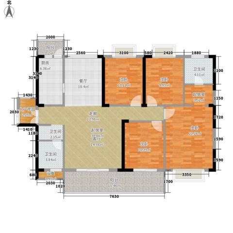 天天向上4室0厅2卫1厨152.00㎡户型图