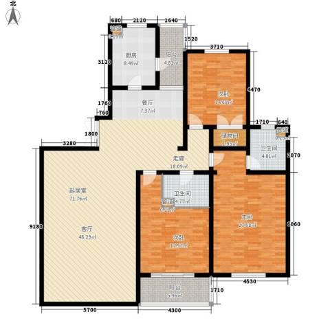 新友合康城3室0厅2卫1厨183.00㎡户型图