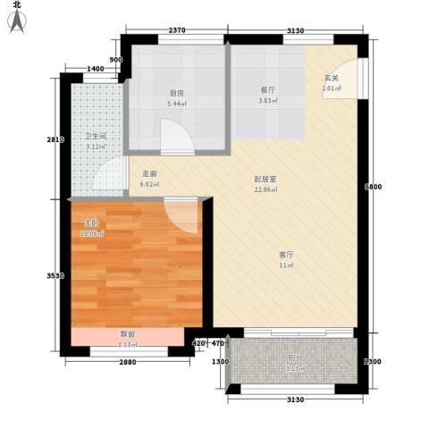 陈家墩小区1室0厅1卫1厨64.00㎡户型图