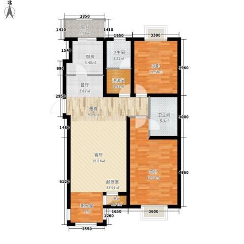 第六大道第博雅园2室0厅2卫1厨111.00㎡户型图