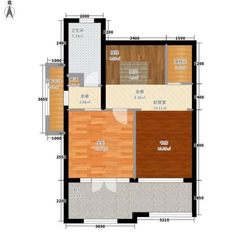 陈家墩小区1室0厅1卫0厨89.00㎡户型图