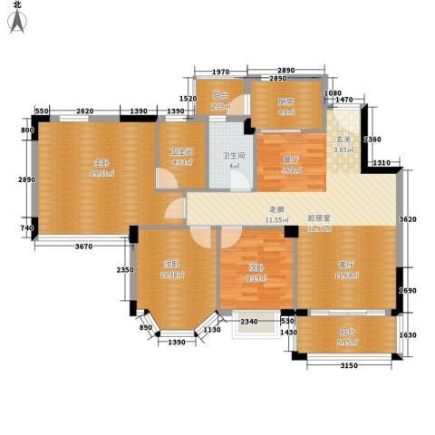 花样年华3室0厅2卫1厨101.00㎡户型图