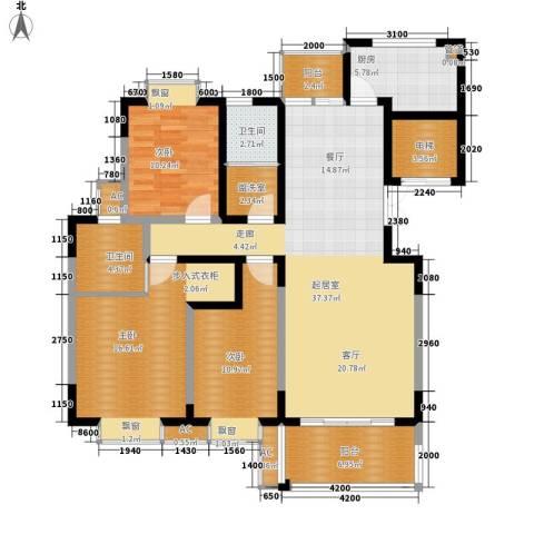 鑫远A派3室0厅2卫1厨130.00㎡户型图