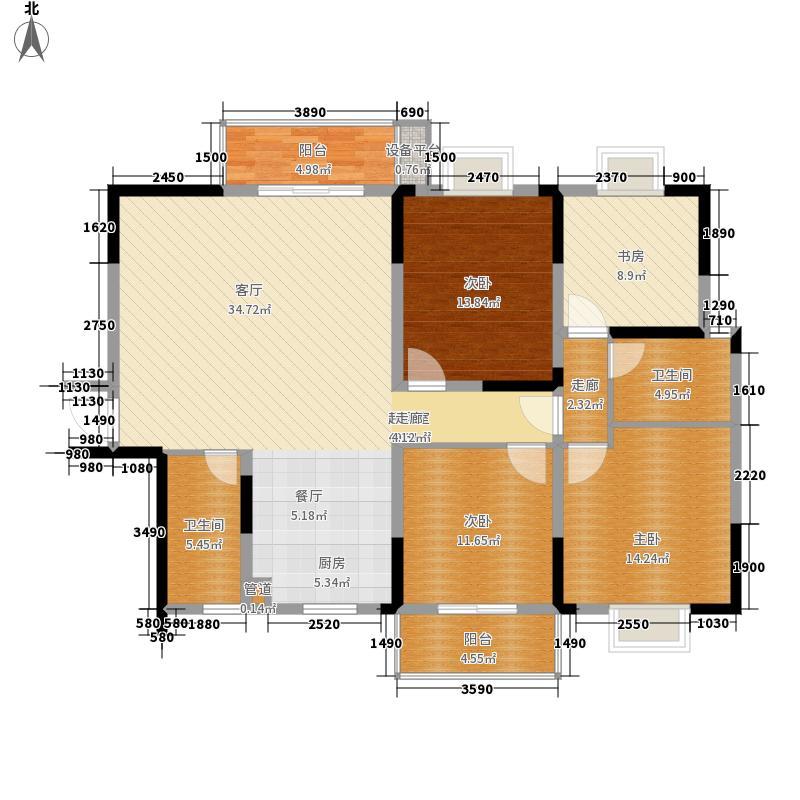 鑫天山城明珠142.31㎡2、5栋B2+B面积14231m户型