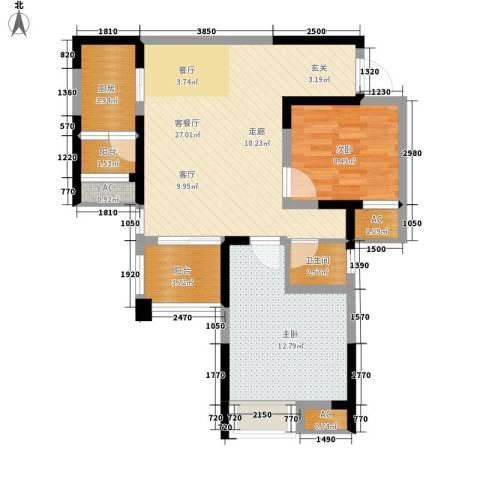英郡2室1厅1卫1厨81.00㎡户型图
