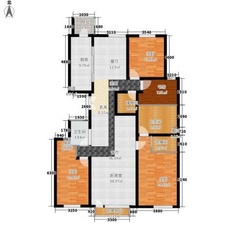 招商嘉铭·珑原4室0厅2卫1厨211.00㎡户型图