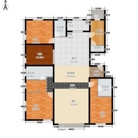 招商嘉铭·珑原4室1厅4卫1厨330.00㎡户型图