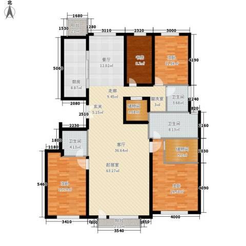 招商嘉铭·珑原4室0厅3卫1厨214.00㎡户型图