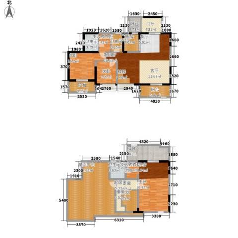 南钻威尼斯3室1厅3卫1厨210.00㎡户型图
