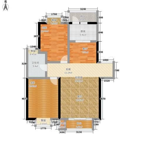 沁水新城2室0厅1卫1厨102.00㎡户型图