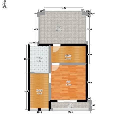 山水英伦庄园1室0厅1卫0厨75.00㎡户型图