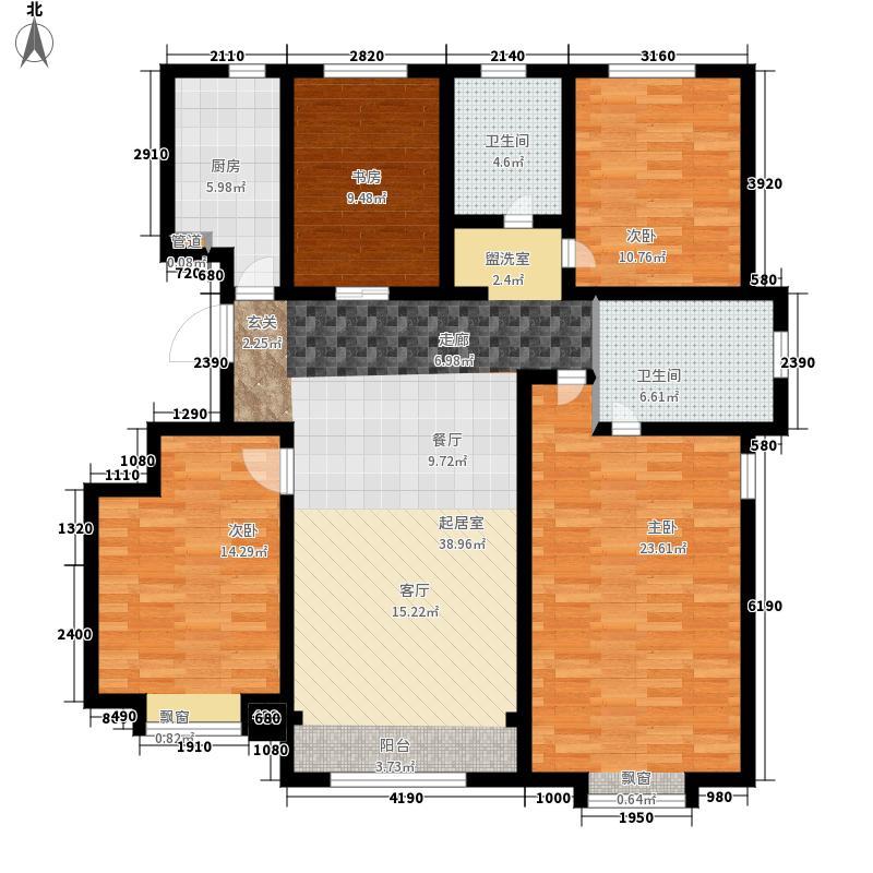 融创君澜融公馆130.00㎡洋房7、9、10号楼标准层A2户型