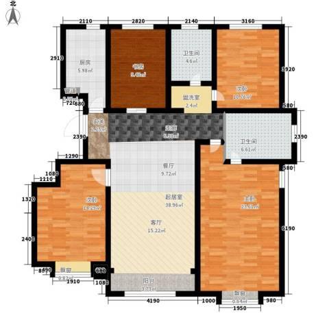 融创君澜融公馆4室0厅2卫1厨130.00㎡户型图