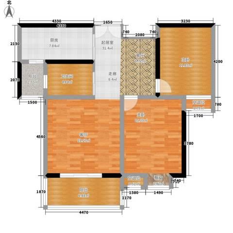 沁水新城2室0厅1卫1厨94.00㎡户型图