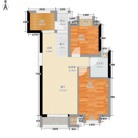 沁水新城2室0厅1卫1厨97.00㎡户型图