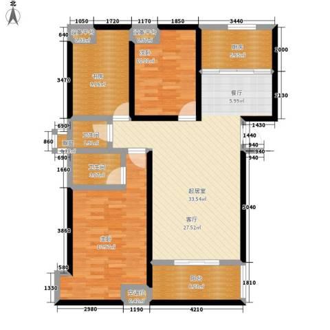 沁水新城3室0厅2卫1厨144.00㎡户型图