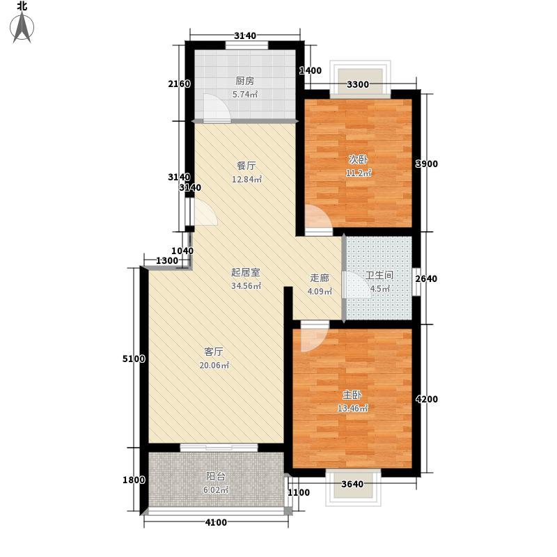 水木白杨95.27㎡5号楼A面积9527m户型