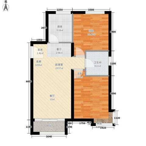 陈家墩小区2室0厅1卫1厨83.00㎡户型图