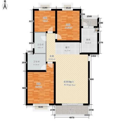 仁和雨花家园3室0厅2卫1厨131.00㎡户型图